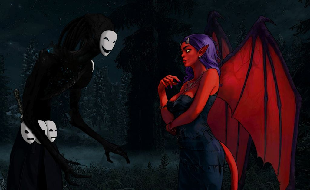 living shadow and devil lady